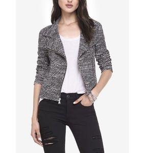 Express Textured Knit Moto Jacket - Size Small